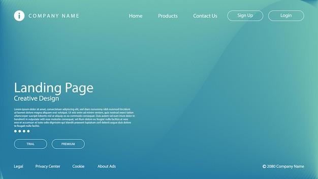 Abstrakter moderner hintergrund mit lebendigem farbverlauf des blauen lichts für website-landingpage