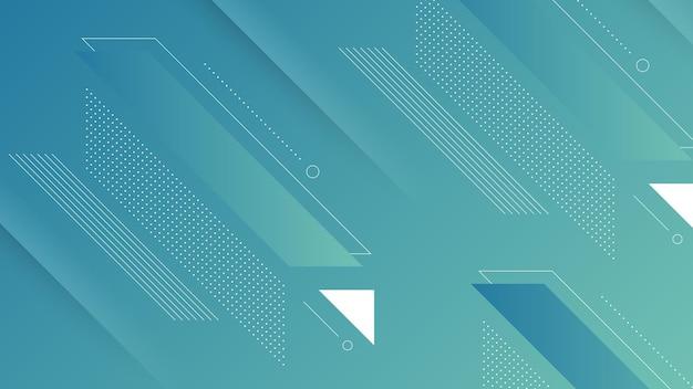 Abstrakter moderner hintergrund mit lebendigem farbverlauf und memphis-element