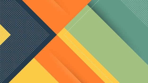 Abstrakter moderner hintergrund mit memphis diagonallinien