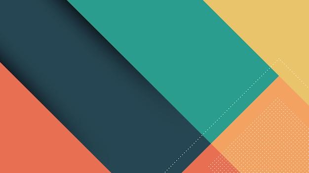 Abstrakter moderner hintergrund mit memphis papercut style und blauer tosca pastellfarbe