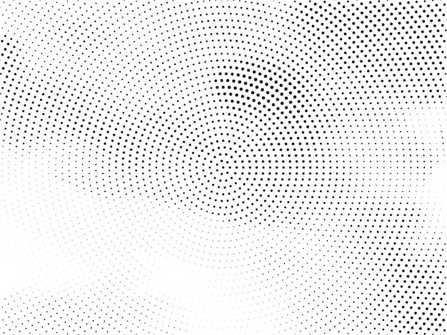 Abstrakter moderner kreisförmiger halbtonentwurfshintergrundvektor