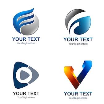 Abstrakter moderner logosatz