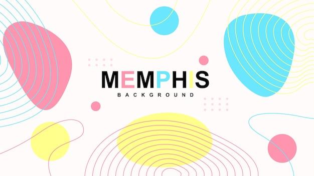 Abstrakter moderner memphis-hintergrund mit elementen