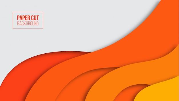 Abstrakter moderner orange papierschnitthintergrund