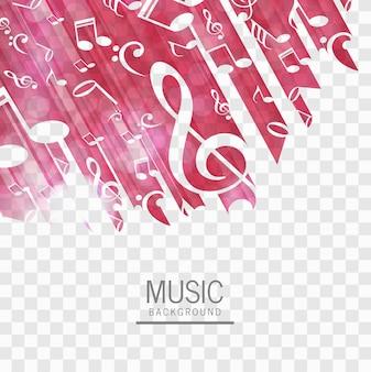 Abstrakter musikhintergrundvektor