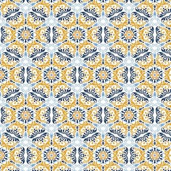 Abstrakter musterhintergrund mit einem marokkanischen themenorientierten entwurf
