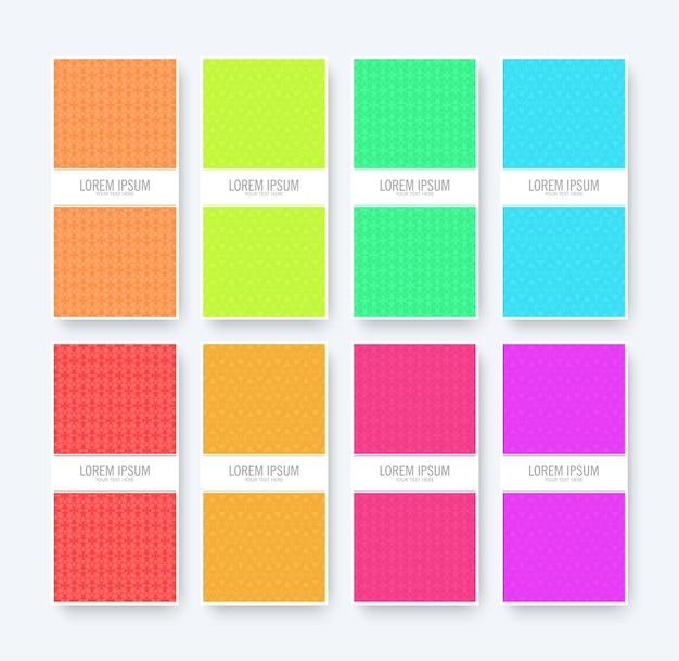 Abstrakter musterhintergrund mit flachen farben