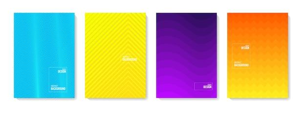 Abstrakter musterhintergrund. satz abstrakte formen der farbe, abstrakter designhintergrund. abstrakte farbverlaufselemente für logo, banner, post,