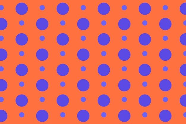 Abstrakter musterhintergrund, tupfen in orange und lila vektor