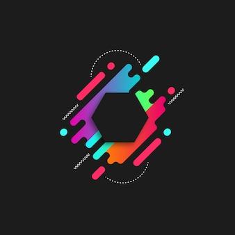 Abstrakter mutiger farbhintergrund