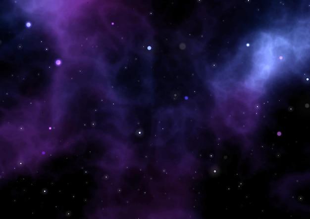 Abstrakter nachthimmelhintergrund mit nebelfleck und sternen ne