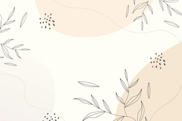 Abstrakter natürlicher hintergrund hand zeichnen