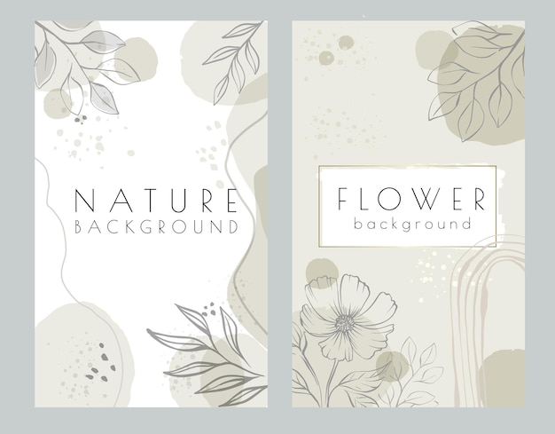 Abstrakter naturblumenhintergrund mit platz für text