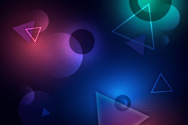 Abstrakter neon-halbtonhintergrund