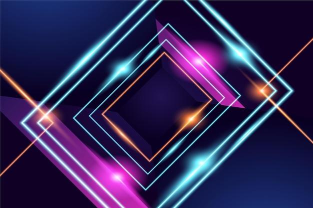 Abstrakter neonlichthintergrund
