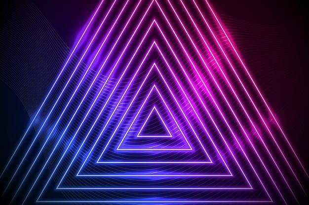 Abstrakter neonlinien-bildschirmschoner