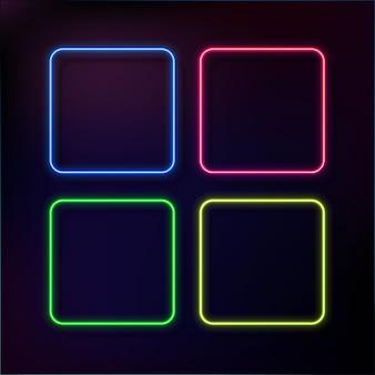 Abstrakter neonrahmensatz