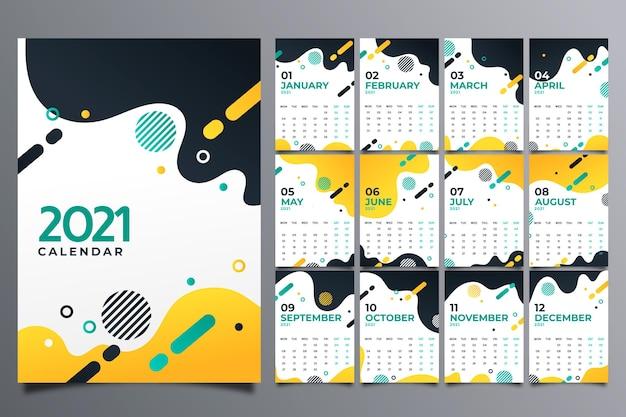 Abstrakter neujahrskalender 2021