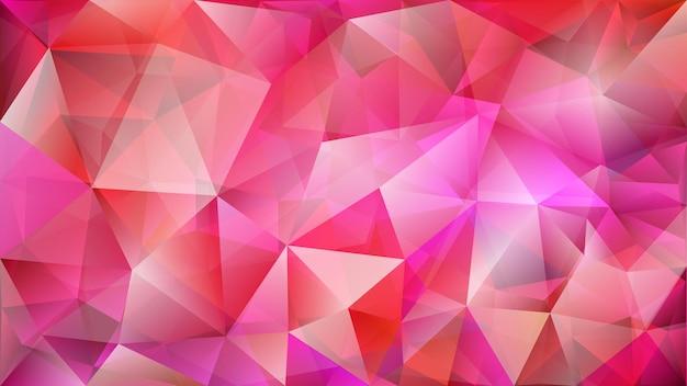 Abstrakter niedriger polygonaler hintergrund aus zwei schichten von dreiecken in rosa farben