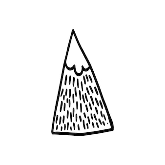 Abstrakter nordischer designberg für dekorationsinnenraum, druckplakate, grußkarte, geschäftsbanner, verpackung im modernen skandinavischen stil in vektor