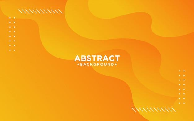 Abstrakter orange flüssiger hintergrund 3d