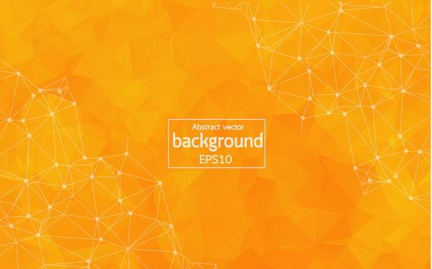 Abstrakter orange geometrischer polygonaler hintergrund