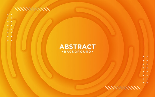 Abstrakter orange hintergrund 3d mit kreisen