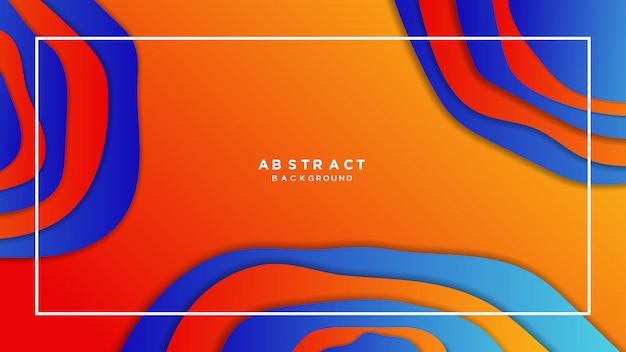 Abstrakter orange papercut steigungshintergrund
