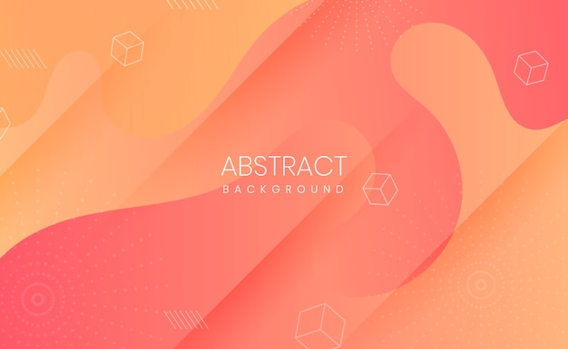 Abstrakter orange und gelber gradientenpapierschnitthintergrund