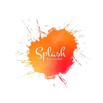 Abstrakter orangefarbener aquarell-spritzhintergrund