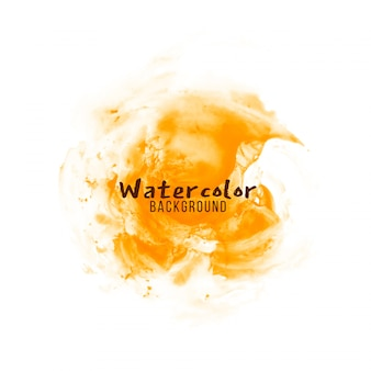 Abstrakter orangefarbener aquarelldesignhintergrund