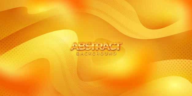 Abstrakter orangefarbener wellenhintergrund dynamischer orangefarbener hintergrund