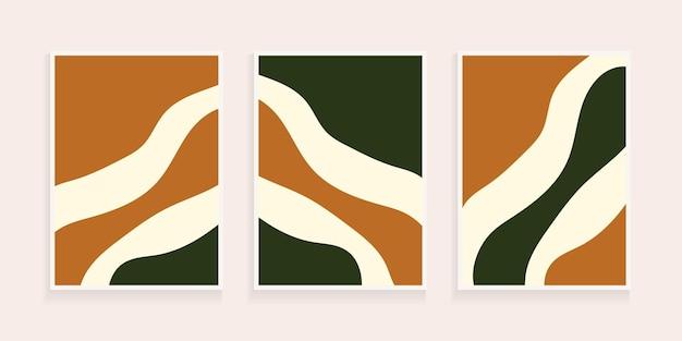 Abstrakter organischer handgezeichneter minimalistischer formhintergrund zeitgenössische collage