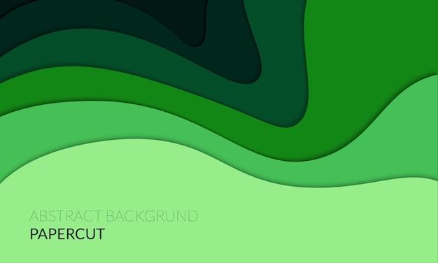 Abstrakter papercut 3d hintergrund
