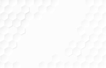 Abstrakter Papierhexagonweiß Hintergrund.