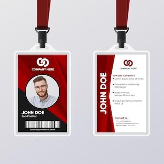 Abstrakter personalausweis für männlichen arbeiter