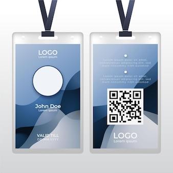 Abstrakter personalausweis mit fotoraum