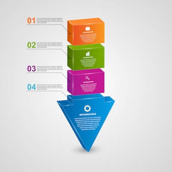 Abstrakter pfeil 3d infographic.