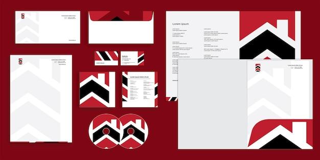 Abstrakter pfeil modernes bauunternehmen corporate business identity stationär