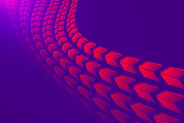 Abstrakter pfeilhintergrund, purpurroter steigungstechnologie-konzeptvektor