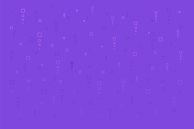 Abstrakter pixelregen auf violettem hintergrund
