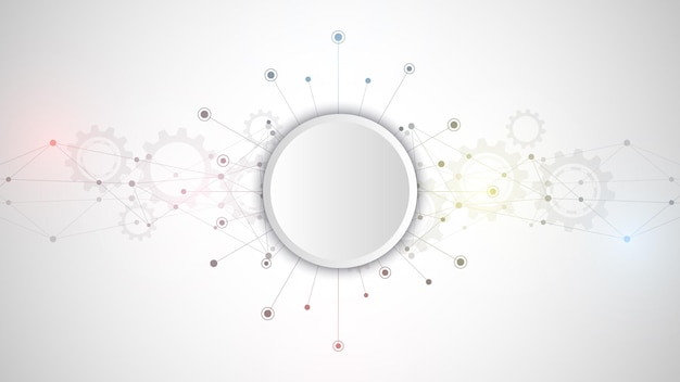 Abstrakter plexushintergrund mit verbindungspunkten und linien. globale netzwerkverbindung, digitale technologie und kommunikationskonzept.
