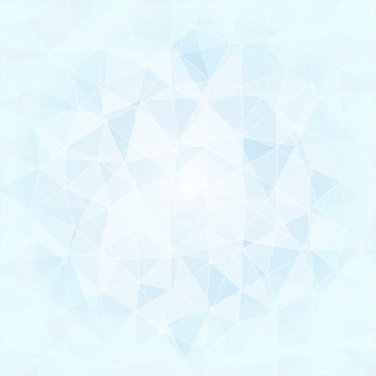 Abstrakter poligonal hintergrund in den blauen und weißen tönen, vektor