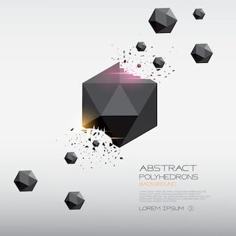 Abstrakter polyederhintergrund