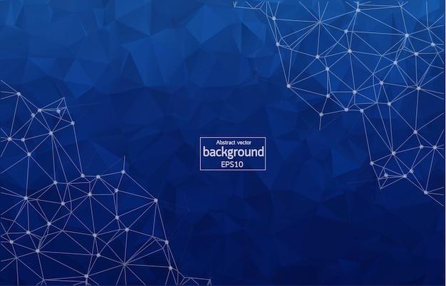 Abstrakter polygonaler blauer hintergrund
