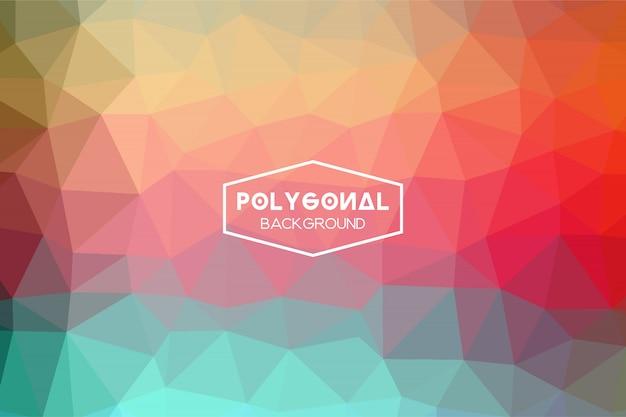 Abstrakter polygonaler hintergrund