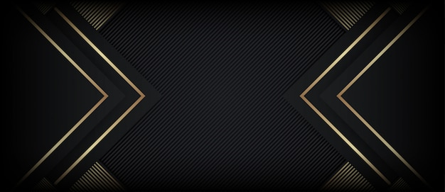 Abstrakter polygonaler luxushintergrund mit goldenen formen