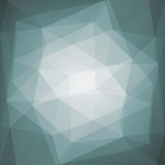 Abstrakter quadratischer dreieckhintergrund der steigung. grauer polygonaler hintergrund für mobile anwendungen und web. trendiges geometrisches abstraktes banner. flyer zum technologiekonzept. mosaik-stil.