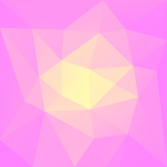Abstrakter quadratischer dreieckhintergrund der steigung. warme rosa und gelbe polygonale kulisse für die geschäftspräsentation. trendiges geometrisches abstraktes banner. flyer zum technologiekonzept. mosaik-stil.