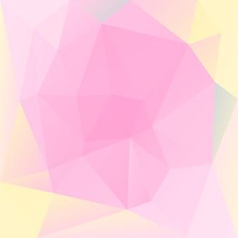 Abstrakter quadratischer dreieckhintergrund der steigung. warme rosa und gelbe polygonale kulisse für mobile anwendungen und das web. trendiges geometrisches abstraktes banner. flyer zum technologiekonzept. mosaik-stil.